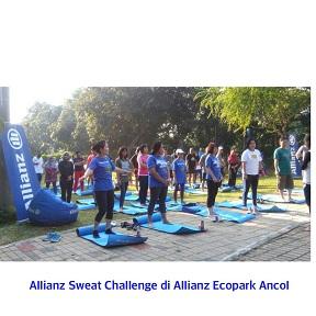 allianz sweat challenge di allianc ecopark ancol
