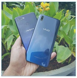 keunggulan Oppo F9 dibanding Vivo V11 Pro