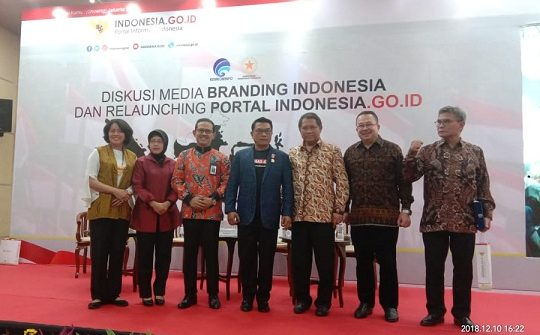 Relaunching Indonesia.go.id Portal Berita Komunikatif